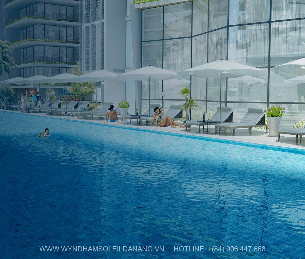Hồ bơi Dự án Wyndham Soleil Đà Nẵng – Căn hộ Soleil Ánh Dương Đà Nẵng