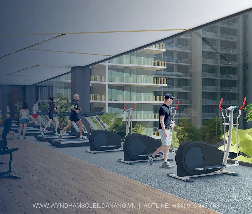 Phòng gym Dự án Wyndham Soleil Đà Nẵng – Căn hộ Soleil Ánh Dương Đà Nẵng