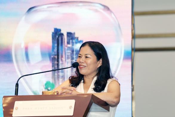 Bà Nguyễn Thị Minh Phượng - tổng giám đốc Tập đoàn PPC An Thịnh, phát biểu tại lễ ký kết