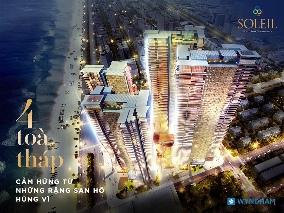 Thiết kế độc đáo của dự ánWyndham Soleil Đà Nẵng