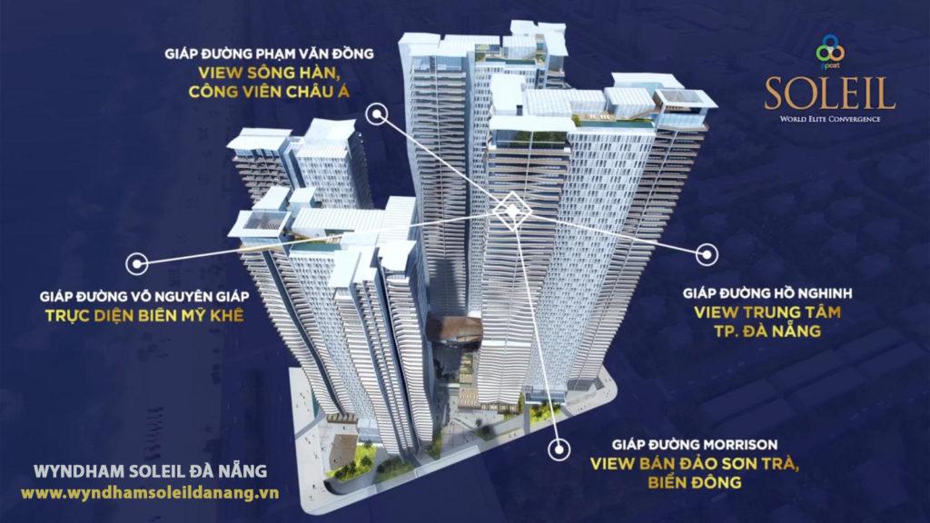 Các hướng nhìn đắt giá của Wyndham Soleil Danang