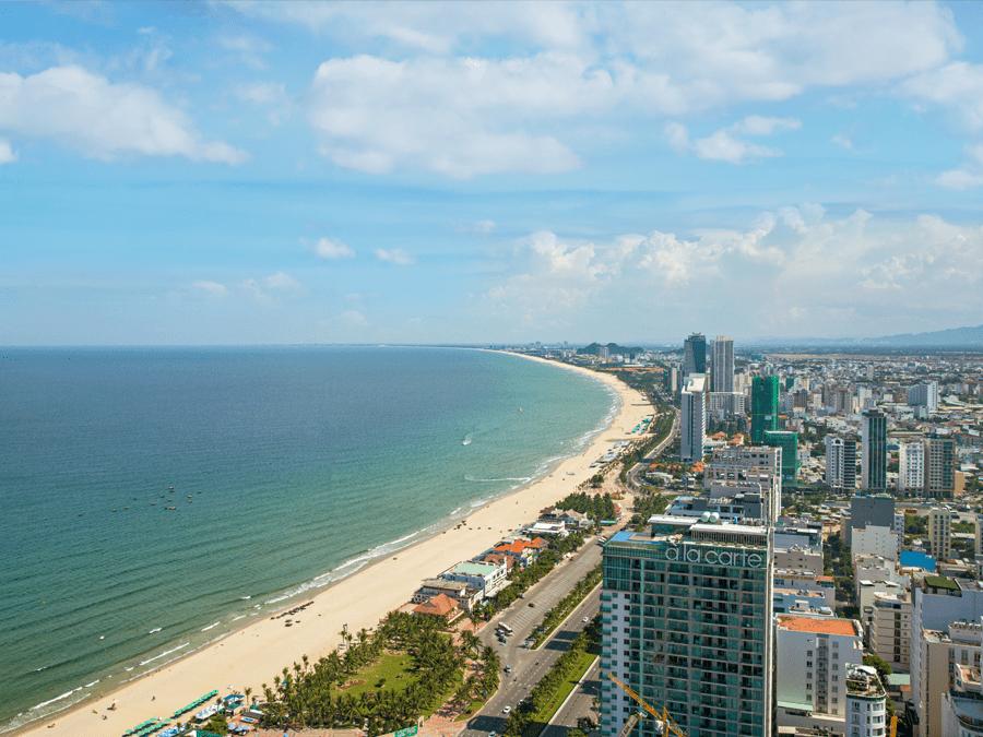 View hướng Đông Nam từ dự án Wyndham Soleil Đà Nẵng