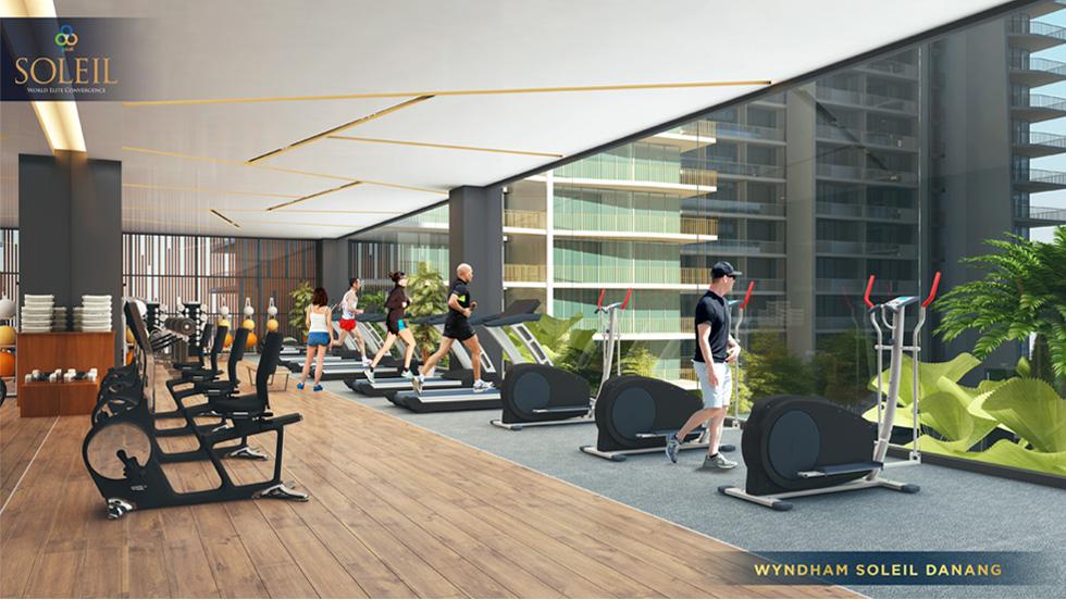 Phòng gym hiện đại tại dự án Wyndham Soleil Danang