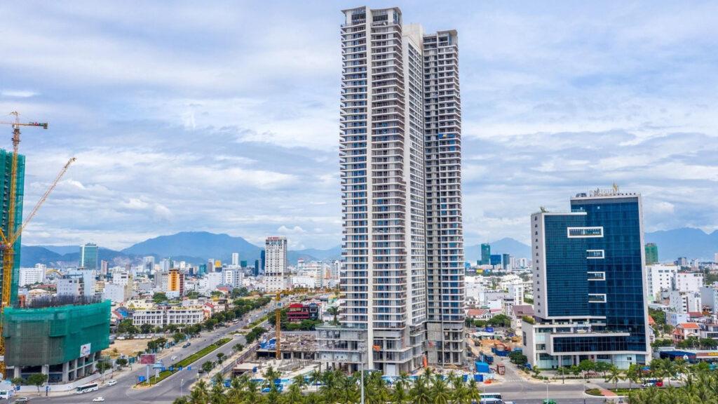 Toà D dự án Wyndham Soleil Đà Nẵng đã được xây dựng hoàn thiện