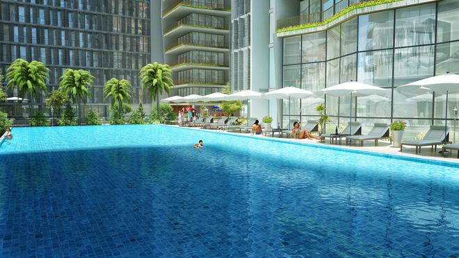 Tiện ích hồ bơi tại dự án Wyndham Soleil Danang