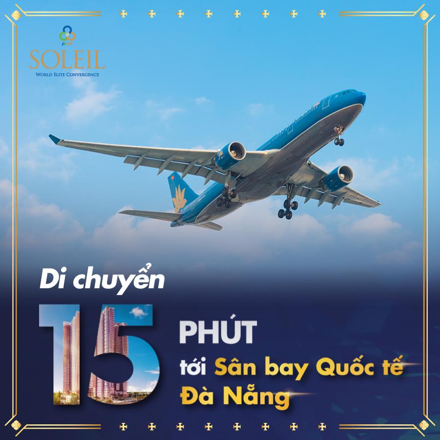 Vị trí Wyndham Soleil Danang tới Sân bay quốc tế Đà Nẵng
