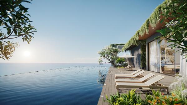 Hồ bơi tràn bờ tại Wyndham Soleil Danang