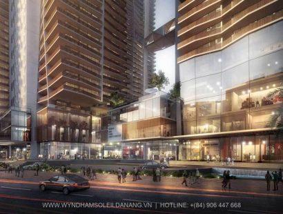 Khu trung tâm thương mại Dự án Wyndham Soleil Đà Nẵng – Căn hộ Soleil Ánh Dương Đà Nẵng